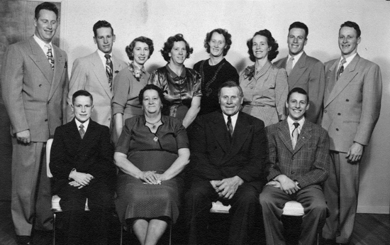 Alma and Hazel Buhler family