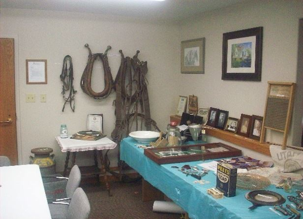 Variety of artifacts displayed on a table